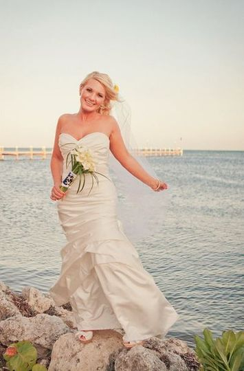 Bride by the sea