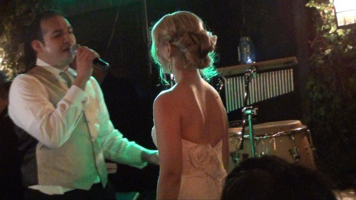 The bride with The JJ's Band