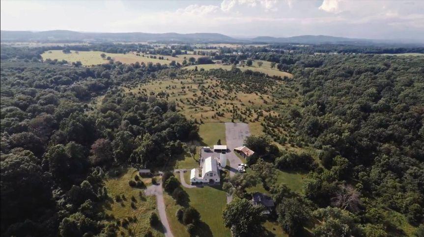 Aerial View of 48 Fields Farm