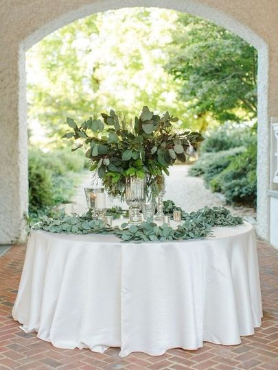 Greenery wedding table setting
