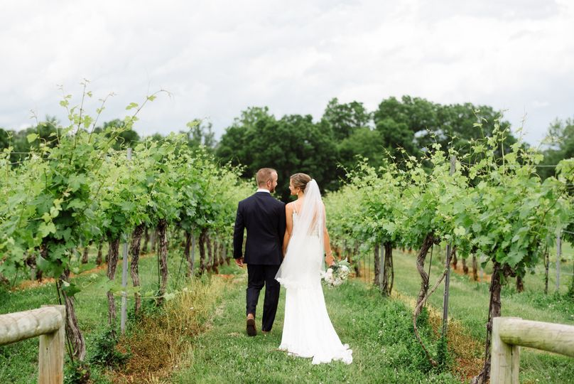 Frolicking in the vineyard