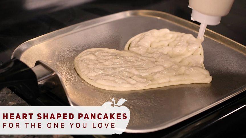 Fun Heart shaped pancakes!