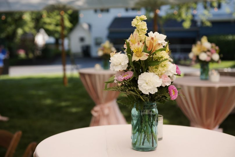 A beautiful summer tented event