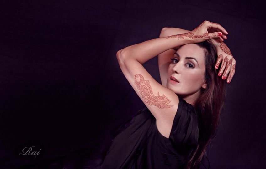 Modern Henna for  fashion photoshoot