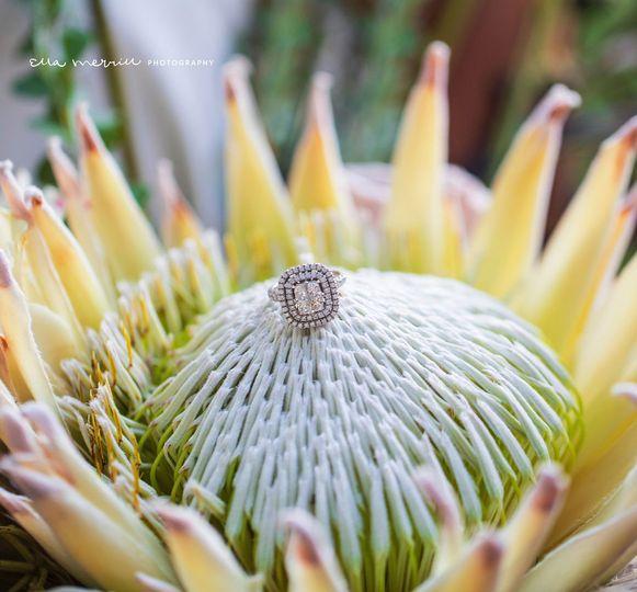 Ring Detail Shot in Bouquet