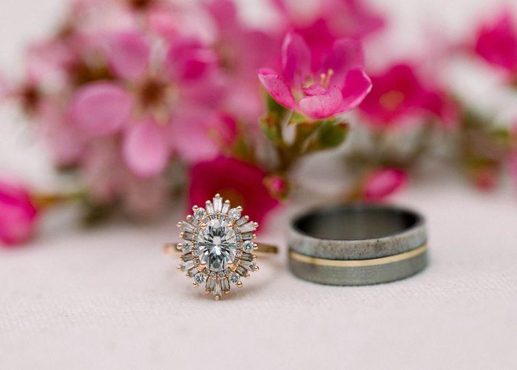 Ring Detail Shot Wedding Day