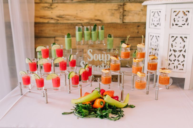 Soup hors d'oeuvre station