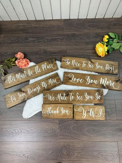 Rustic Custom Wedding Signs