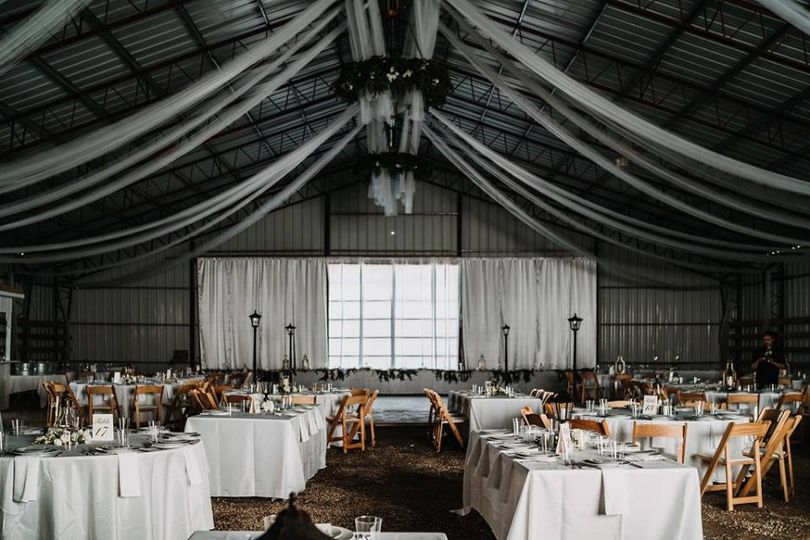 Reception venue barn