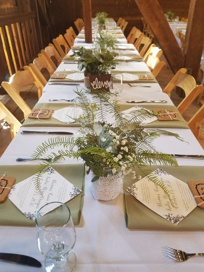 Wedding table aetup