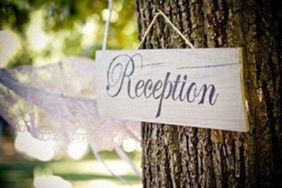 Wedding reception sign board