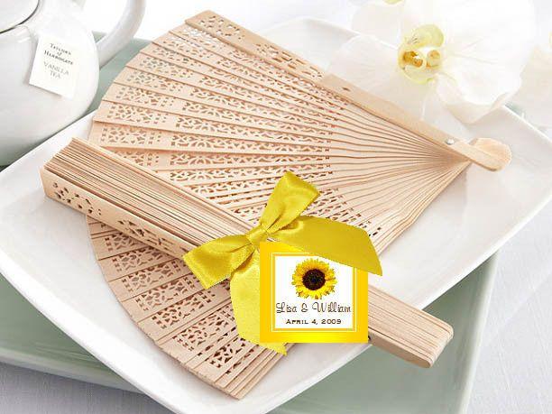 Tmx 1437321059445 Sunflower Sandalwood Fans 800 Livingston wedding favor