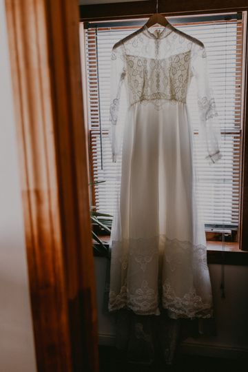 Long-sleeved boho gown