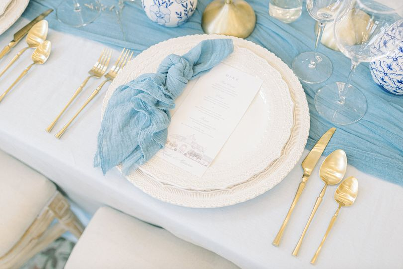 Summery blue wedding