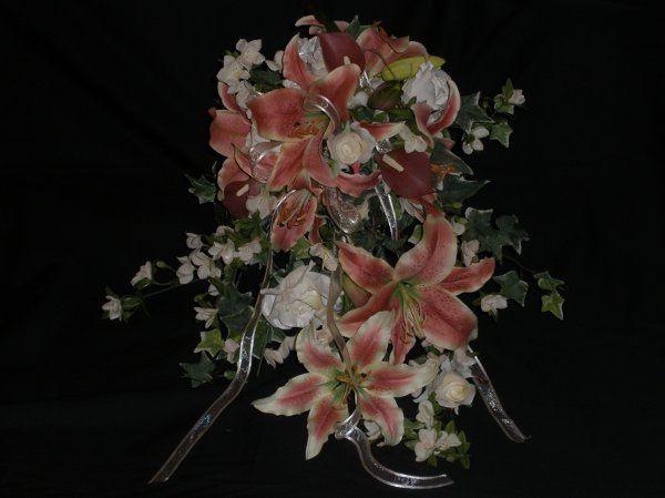 Cascading Silk Floral Bouquet