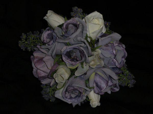 Colonial Silk Floral Bouquet (front view)