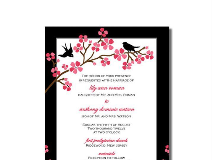 Tmx 1386707897567 Cherry Blossombirdtangerineinvit Highland Lakes, New Jersey wedding invitation
