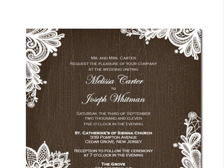 Tmx 1386707976758 Rusticlaceandwoo Highland Lakes, New Jersey wedding invitation