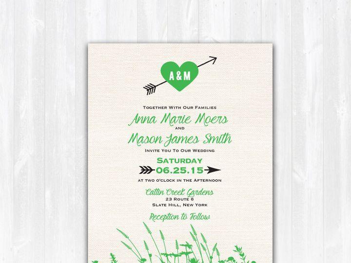 Tmx 1468088816177 Weddinginviteburlapmeadow Highland Lakes, New Jersey wedding invitation