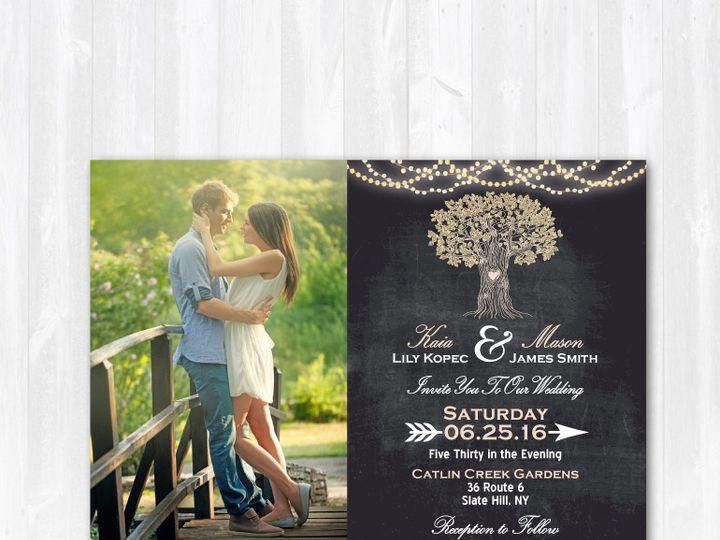 Tmx 1468088834641 Weddinginvitephotochalkboardtree Highland Lakes, New Jersey wedding invitation