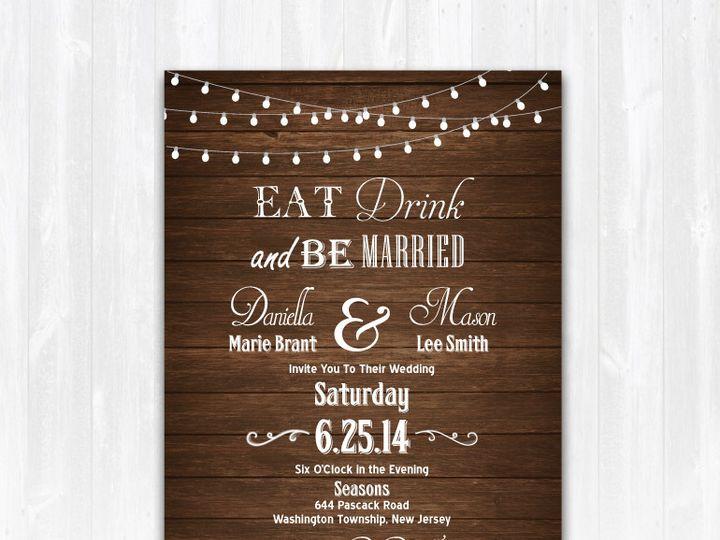 Tmx 1468088911381 Woodeatdrinkbemarriedweddinginvitation Highland Lakes, New Jersey wedding invitation