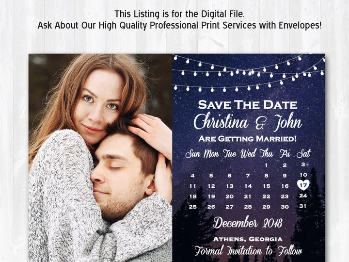 Tmx Savethedate Starsky Photo 51 158405 Highland Lakes, New Jersey wedding invitation