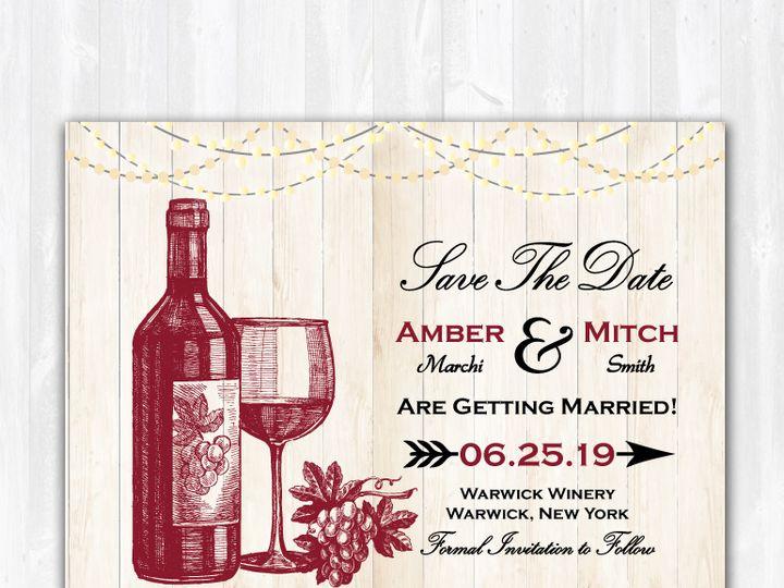 Tmx Savethedate Wine Lightwood 51 158405 Highland Lakes, New Jersey wedding invitation