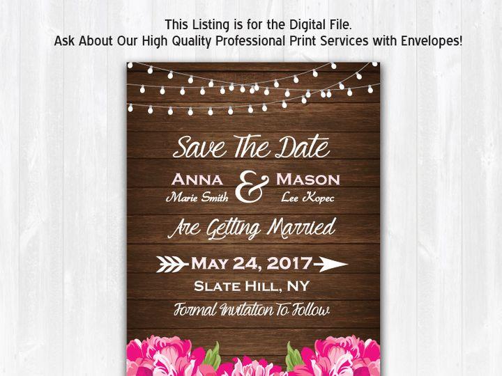 Tmx Savethedate Wood Peony Nophoto 51 158405 Highland Lakes, New Jersey wedding invitation