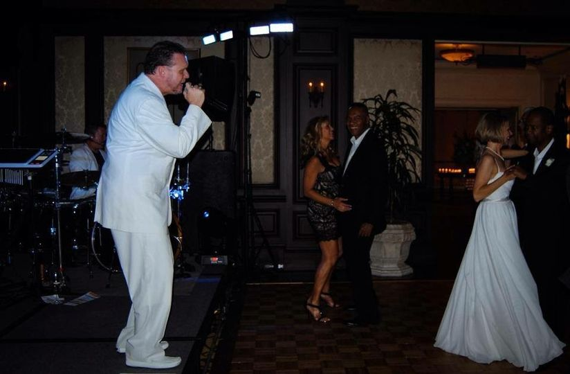 Singing the first dance song for Earl and Denise Klugh as a special request. Night and Day