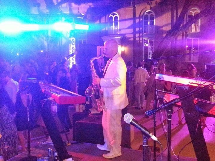 "Jason blowing his horn at ""A Charleston Affair"". A huge party thrown by the College of Charleston..."