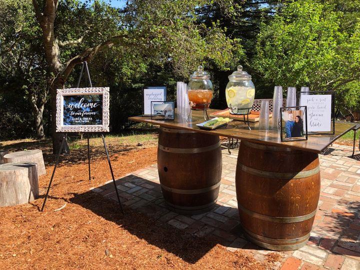 8' Floating Wine Barrel Tables