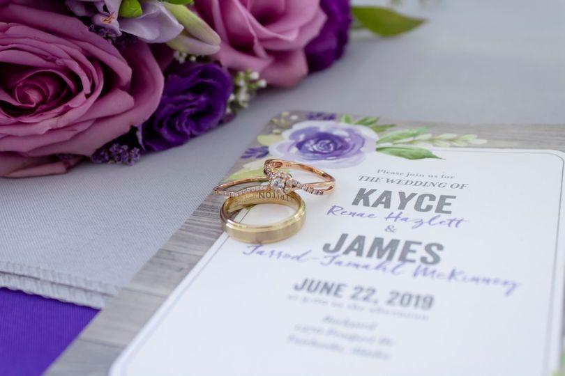 Details of rings & invitation