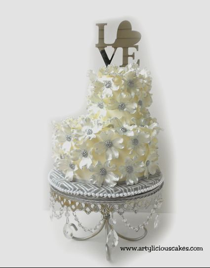 Artylicious Cakes Wedding Cake North Carolina Raleigh Triangle
