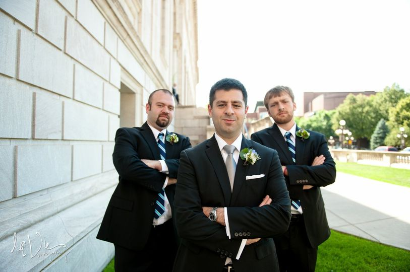Groom with attitude.   LaVie Photography.
