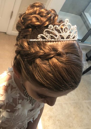 All Things Beauty Glamour Team - wedding hair and tiara