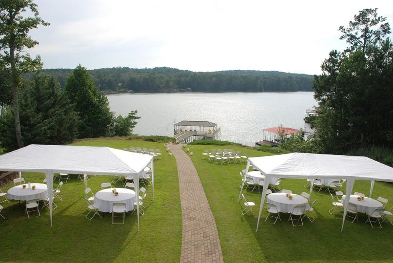 River front wedding