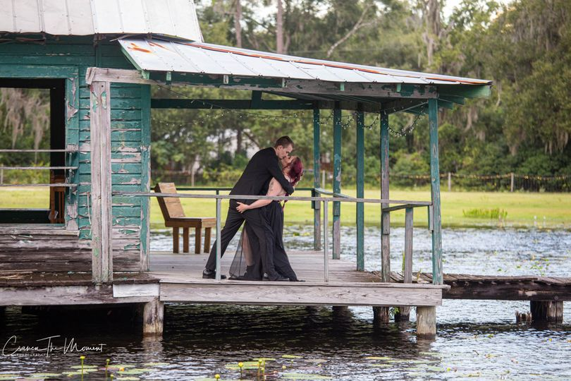 The boat house kiss
