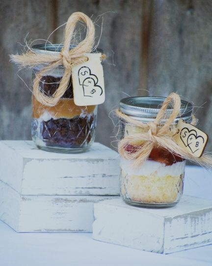 Sweet cakes in a jar