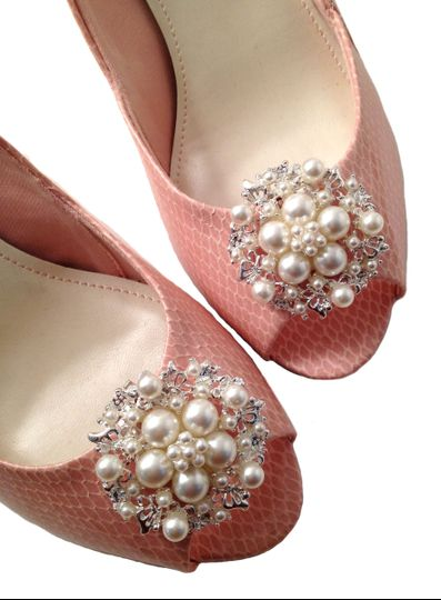 shoe clips pearls faux sure ivory 32