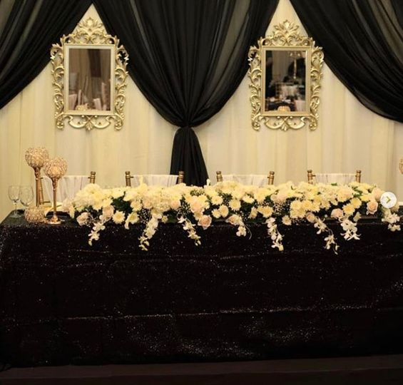 Black and Gold Head Table