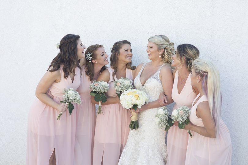 Bride and the bridemaids