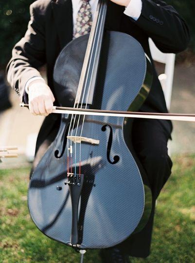 Carbon Fiber cello outdoors