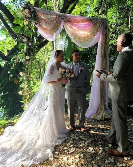 Tree wedding ceremony