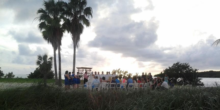 December wedding ceremony on Sombrero Beach in Marathon, Florida. Rhapsody on a Theme of Paganini...