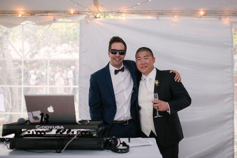 DJ and the groom
