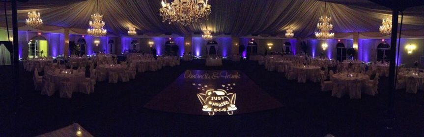 Purple Up lighting with Gobo at  Crown Plaza Cherry Hill