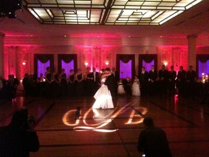 Red up lighting with Gobo