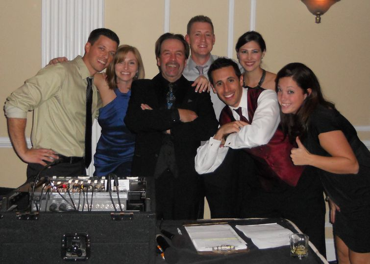 DJ Terry O with 3 of his wedding couples