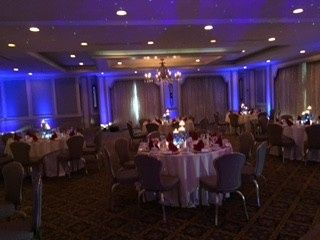 Blue Up lighting at The Mansion