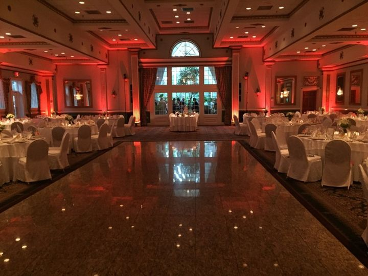 Tmx Uplighting Salmon X2 Mendenhall Inn 51 36505 V1 Moorestown, NJ wedding dj